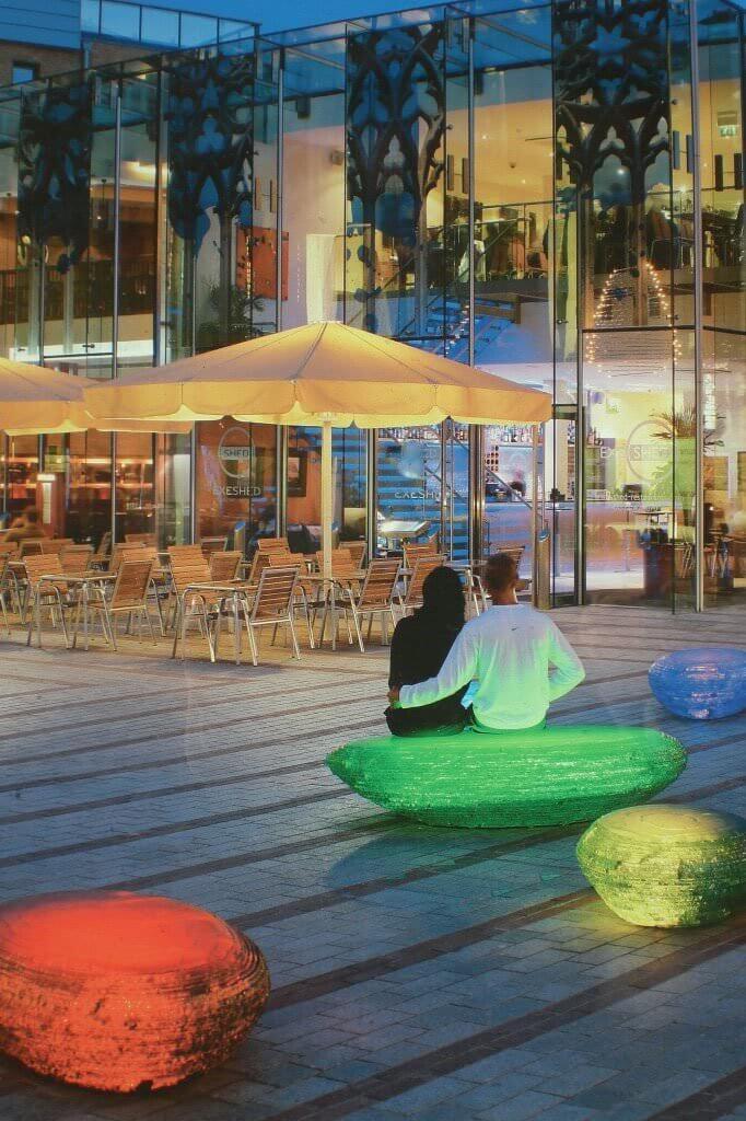 Jeff Bell's Glass Pebble Seats - Princesshay