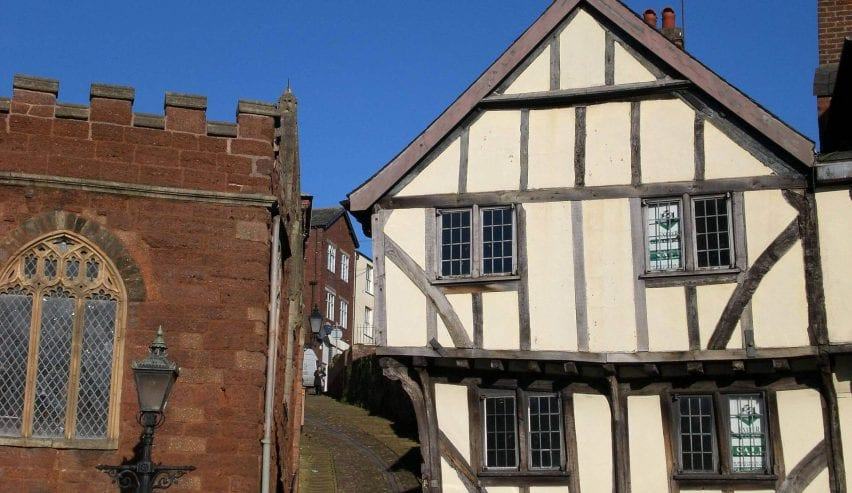 Exeter's Wonky Medieval Architecture