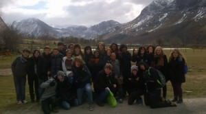 school group at Derwentwater Hostel