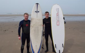 Surfing in South Wales