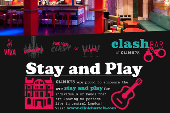 Stay and play at Clink Hostel
