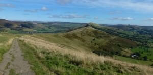 view when walking in edale