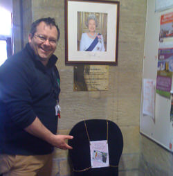 Queen at Alnwick Hostel