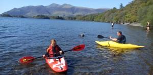 Open water canoeing Derwentwater