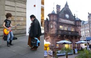 Busker and Cafe Nero : City break in Glasgow