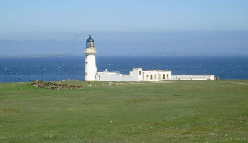 Stroma Island Lighthouse on Orkney
