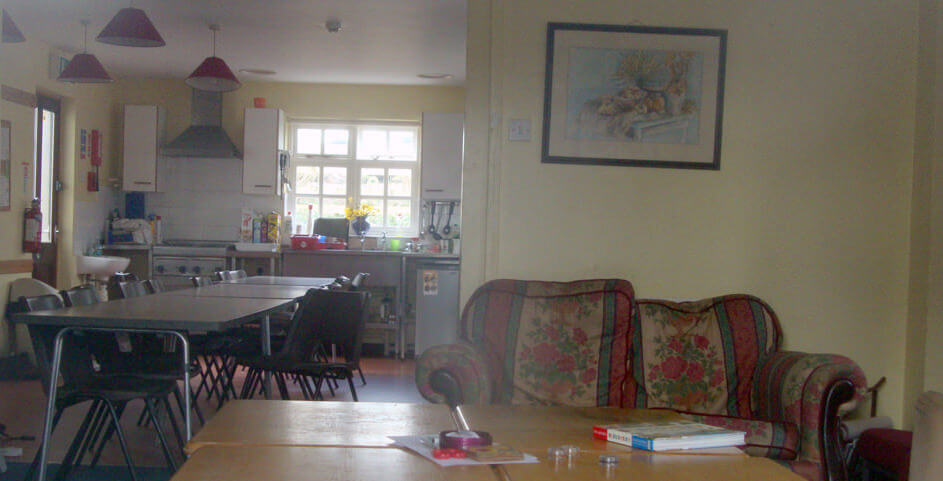 inside Lawrenny Hostel