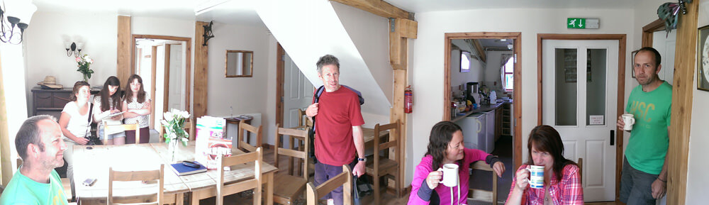 mid wales bunkhouse dining room