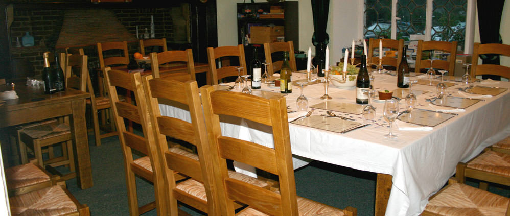 New Year accommodation with large dining tables