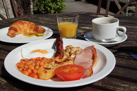 Breakfast at Elterwater Hostel in the Langdale Valley