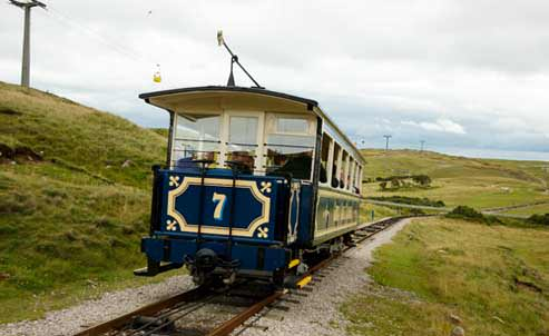 Llandudno tramline up Great Orme