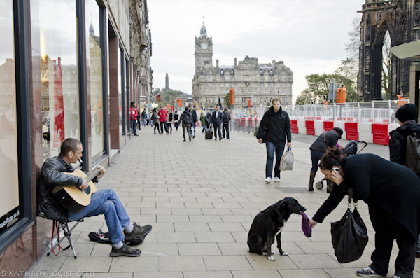 Busking in Edinburgh