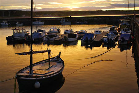 cullen harbour at sunset