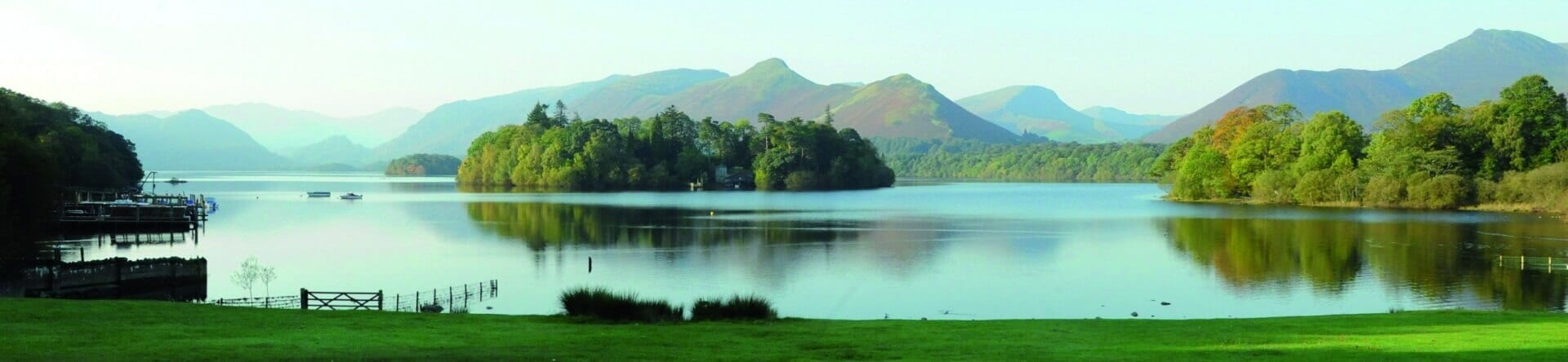 Derwentwater viewed from Derwentwater Independent Hostel