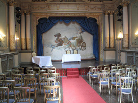 Adelina Patti's theatre at Craig Y Nos Castle