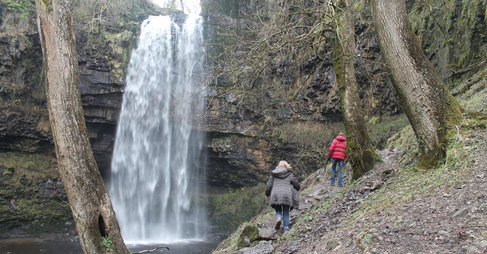 Henrhyd Waterfall in the Brecon Beacons