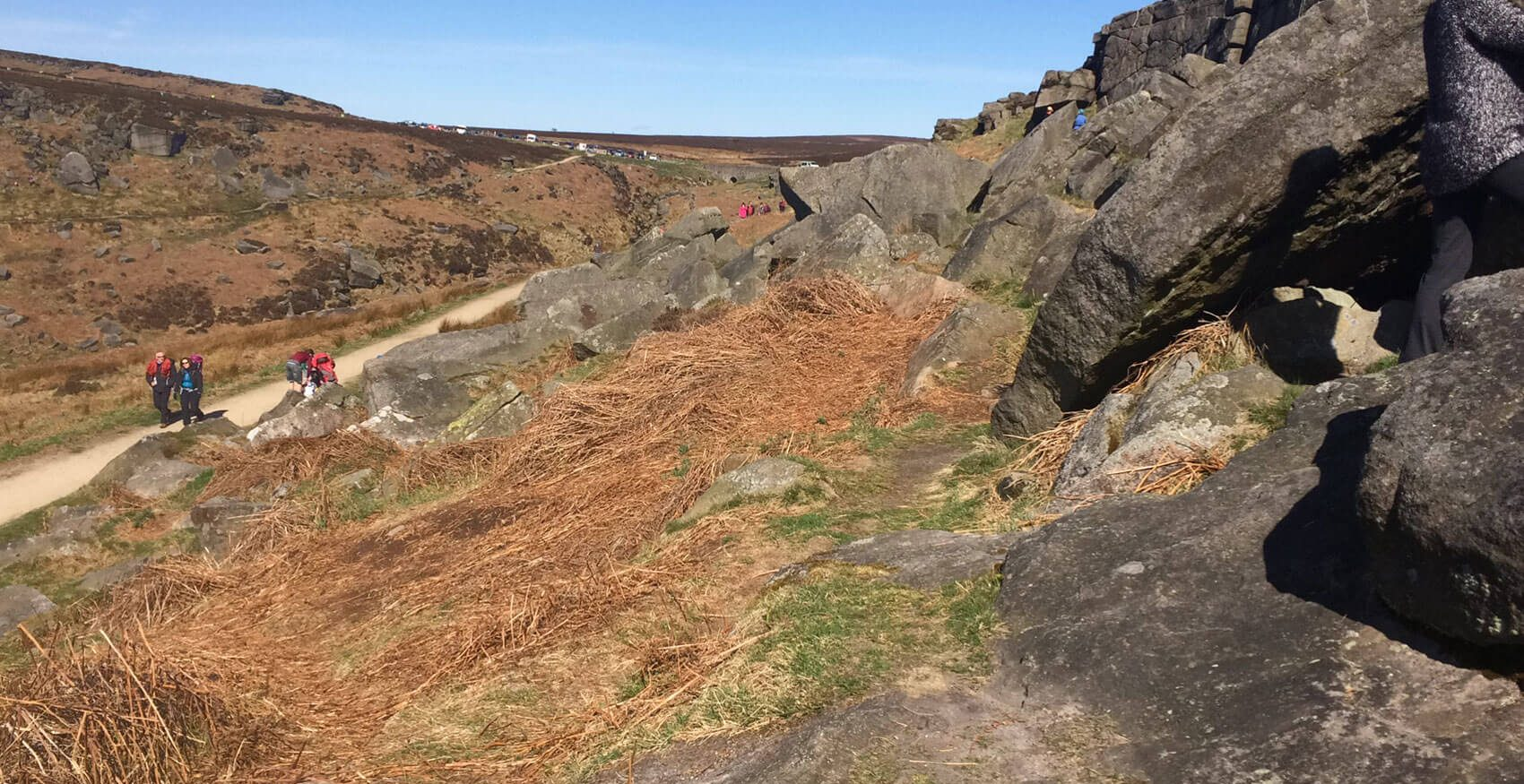 Burbage Edge in the Peak District