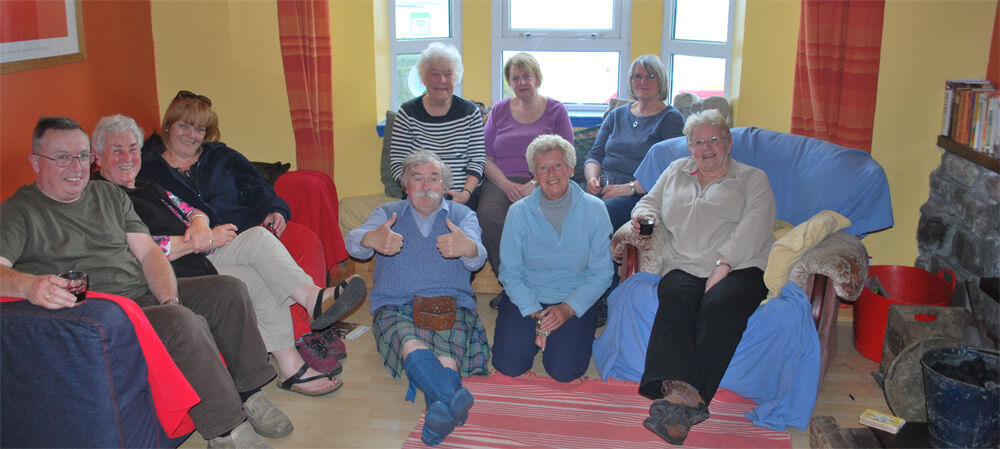 Glasgow Garden Walks Group relax on Barra
