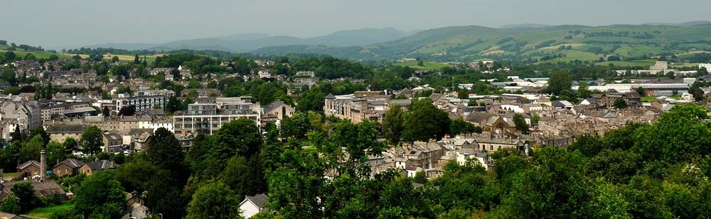 A view of Kendal from Kendal Castle