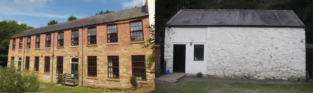 Left: Cote Gyll Mill . Right: Pentre Bach Bunkhouse. Summer holidays available now.