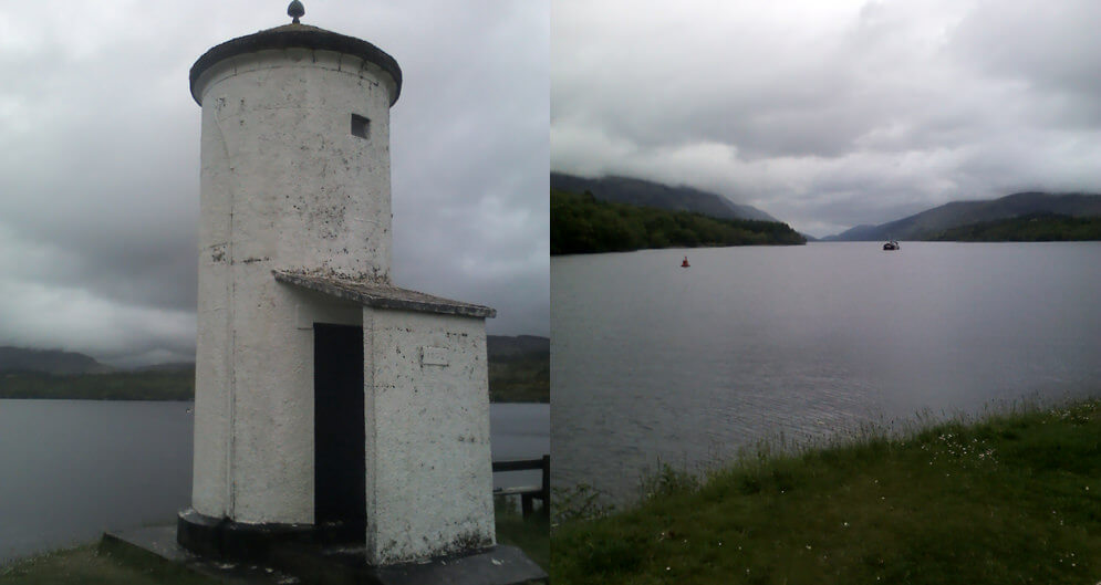 Gairlochy Lighthouse, before walking on to Fort William