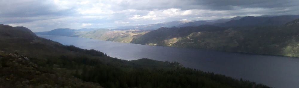 Loch Ness on the route from Inverness to Drumnadrochit