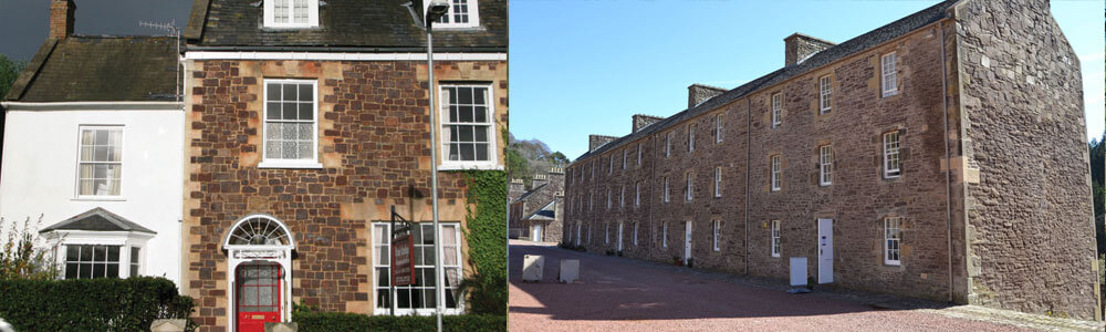 Left: Base Lodge Right : Wee Row Hostel. Summer holidays available now.