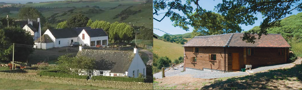 Left: Castle Creave Hay Barn . Right: All Stretton Bunkhouse. Summer holidays available now.