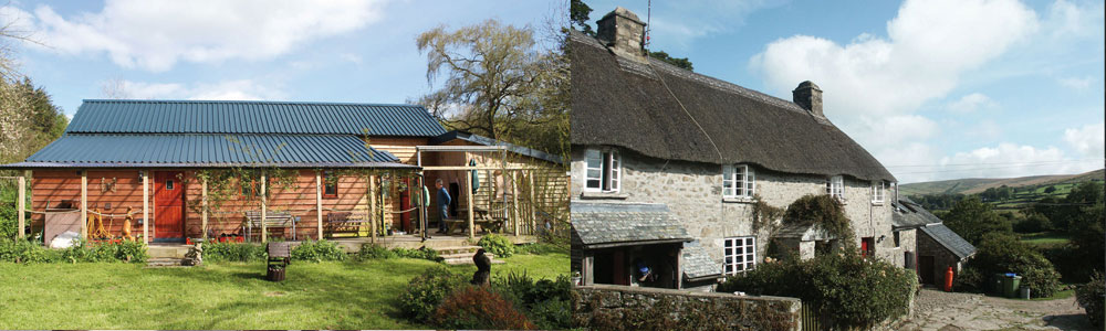 Left: Mid Wales Bunkhouse . Right: Dartmoor Expedition Centre. Summer holidays available now.