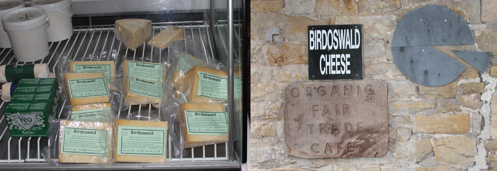 Birdoswald cheese and sign