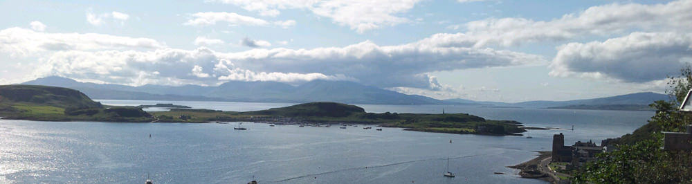 View from the West Coast of Scotland on our trip to Torran Bay