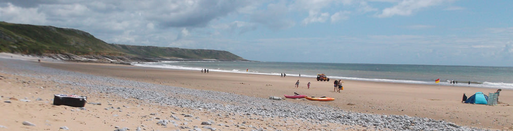 Port Eynon Sands on the Gower Peninsula