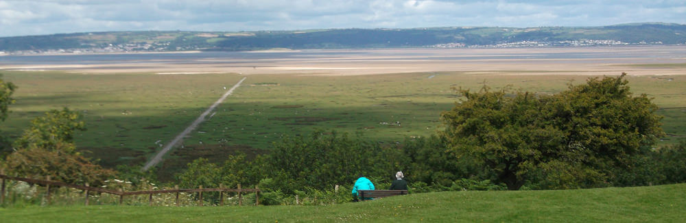 Overlooking the salt marches of the Loughor Estuary