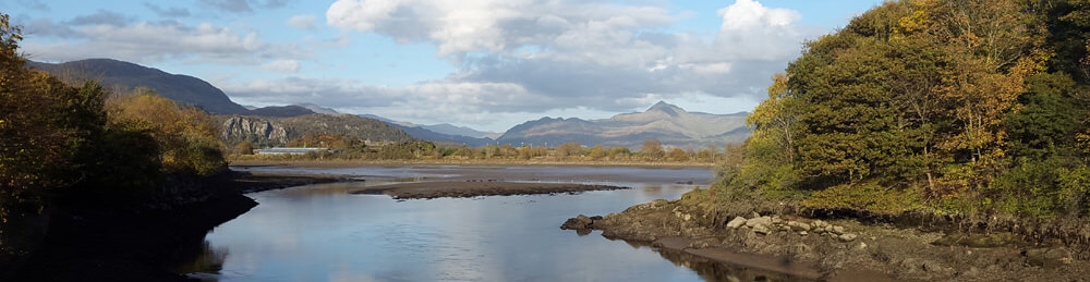Porthmadog Estuary view, close to Snowdon