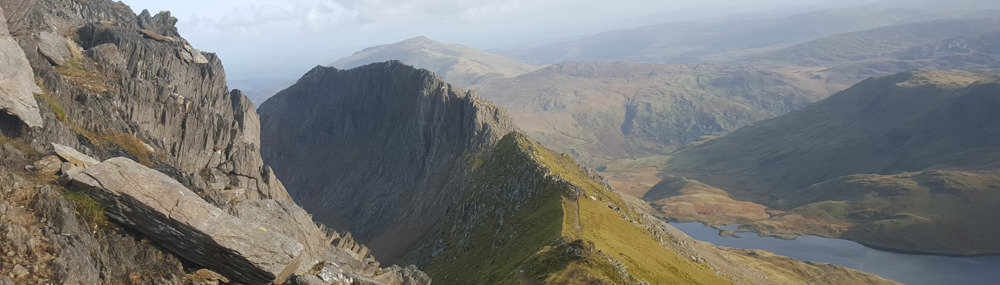 Crib Goch route up Snowdon
