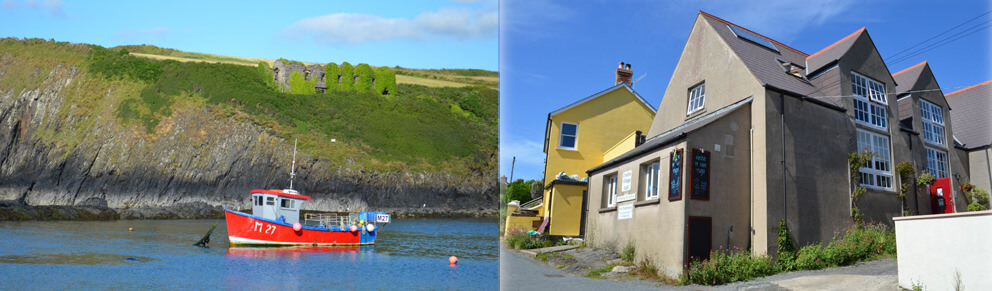 Abercastle and the Old School Hostel on our self catering Pembrokeshire holiday