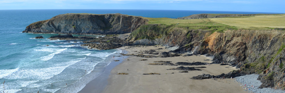 The secret Traeth Llyfn Beach on our self catering Pembrokeshire holiday
