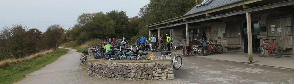 Peak District Cycle Trails. Parsley Hay Cafe, Bike Repair and Car Park