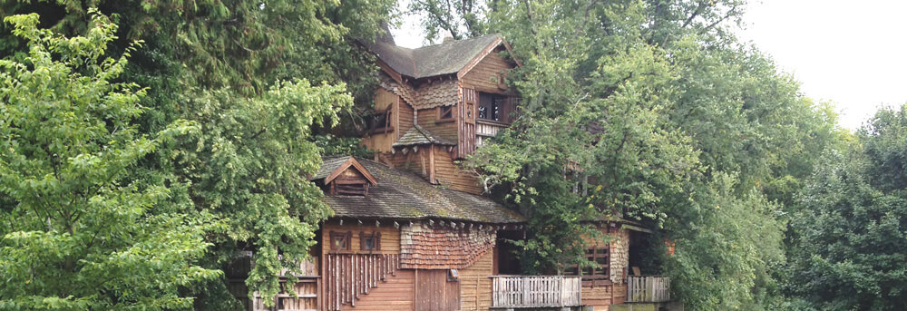 The Treehouse in Alnwick Gardens in Northumberland