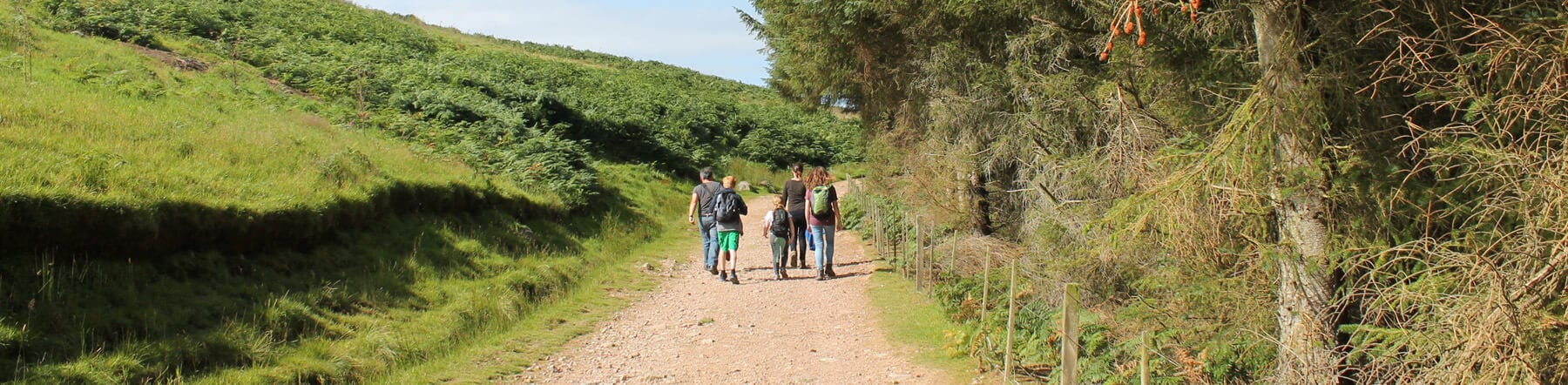 Family walking holiday in the Cheviots