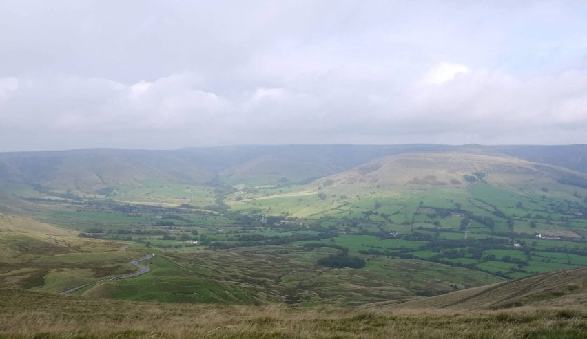 view from mam tor