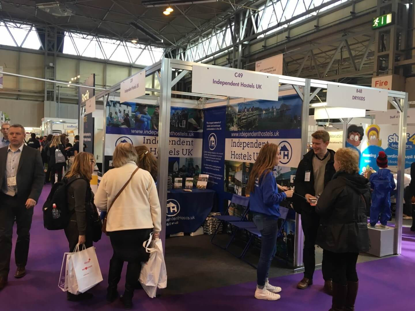 Independent Hostels stand at the Education Show