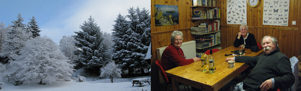 Aite Cruinnichidh Hostel by Roy Bridge. Cosy Lounge and Winter Wonderland.