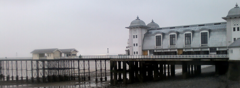 Penarth Peir on the walk from Cardiff