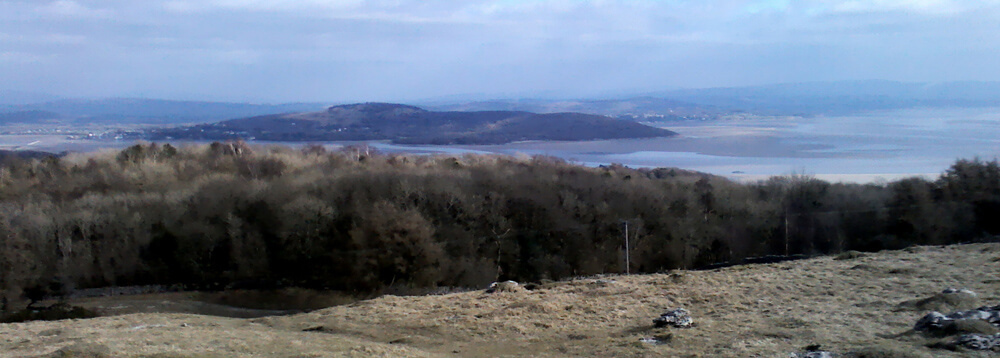 View of Morecombe Bay on a walk from Ulverston