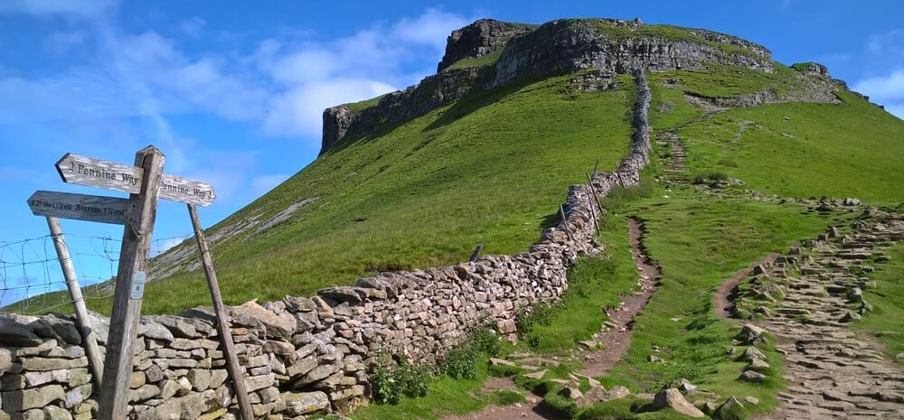 Pennine Way at Pen-y-ghent