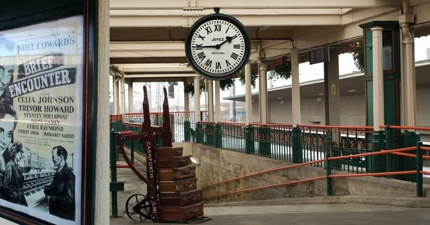 Carnforth Station while staying at Arnside Hostel