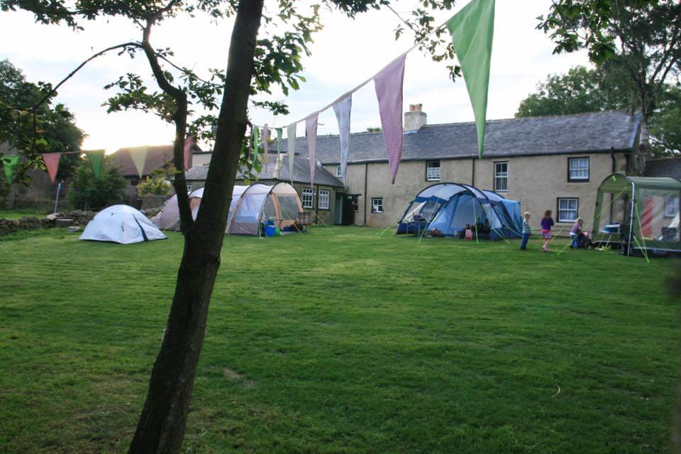 camping at Edmundbyers Youth Hostel