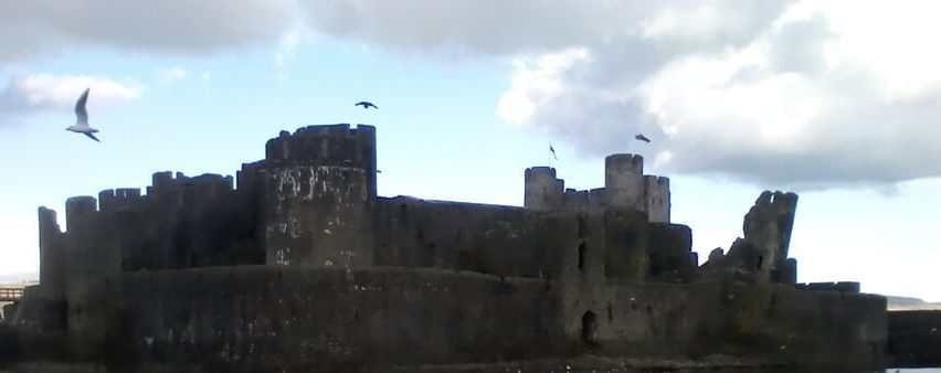 Caerphilly Castle on a walk from River House Hostel