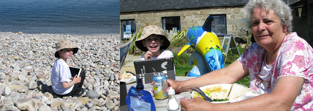 Hostelling with Children Dolphin Watching at Spey Bay